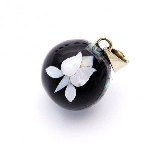Llamador de angeles negro tulipan
