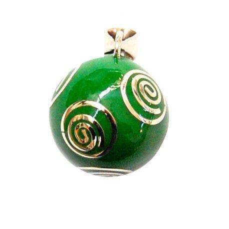 Llamador de Ángeles Verde Espiral