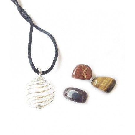 Colgante Con Piedras Varias A elección (3 piezas)
