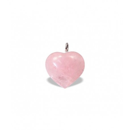 Colgante Corazón Cuarzo Rosa