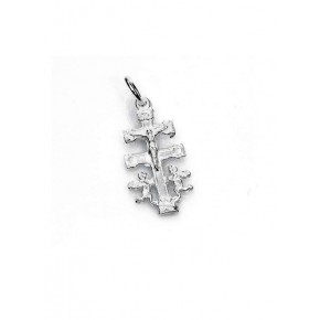 Colgante Cruz Caravaca en plata 2 cm