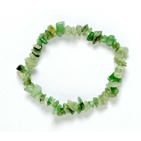 Pulsera Chip Jade Verde.