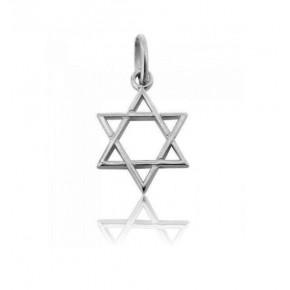 Colgante Estrella de David en plata 2.4 cm