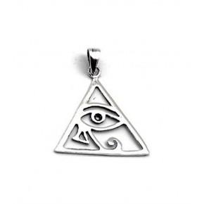 Colgante Ojo de Horus en plata 2 cm