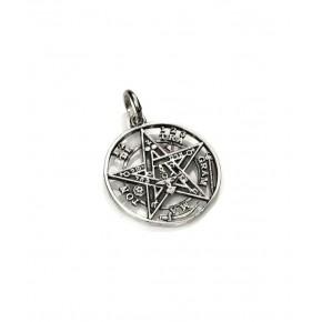 Colgante tetragramatón en plata 1.6 cm