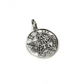 Colgante tetragramatón en plata 1.8 cm