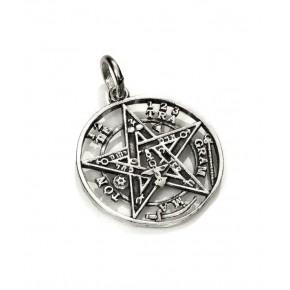 Colgante tetragramaton en plata 3 cm
