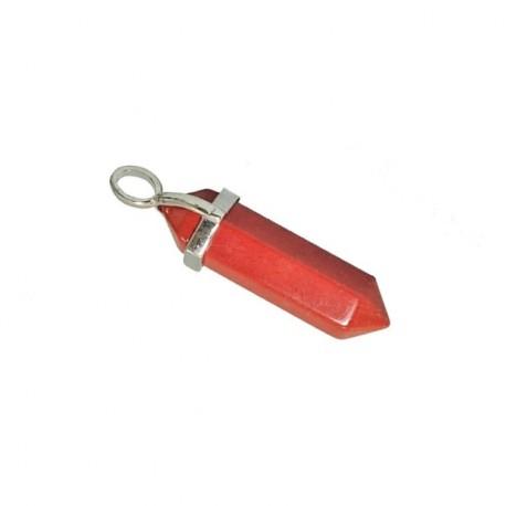 Colgante Biterminado Jaspe Rojo plateado