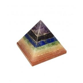 Pirámide de 7 Chakras 2.5 cm