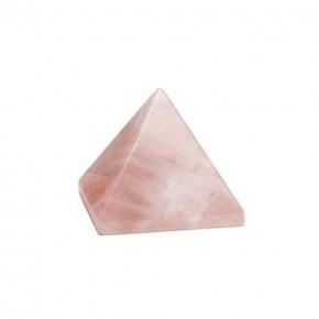 Pirámide de Cuarzo Rosa 8 cm