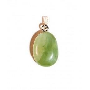Colgante Jade Verde Rodado 2 CM