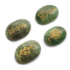 Chakras de Cuarzo Verde Reiki