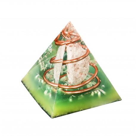 Pirámide Orgonita de Cuarzo Blanco 5 cm