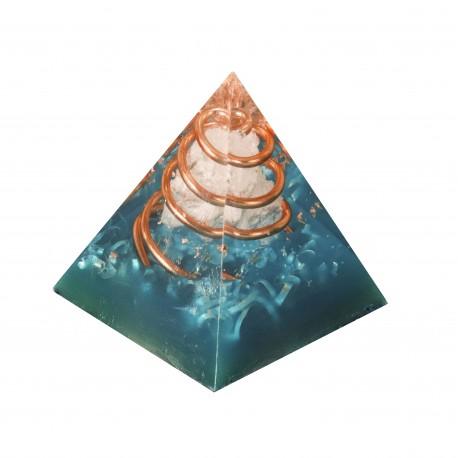 Pirámide Orgonita de Cuarzo Blanco 4,5 cm