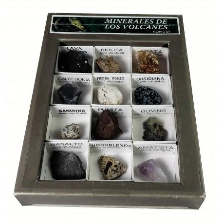 Minerales de los volcanes caja12 unidades