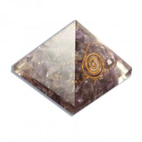 Pirámide de Orgonita Amatista 4 cm